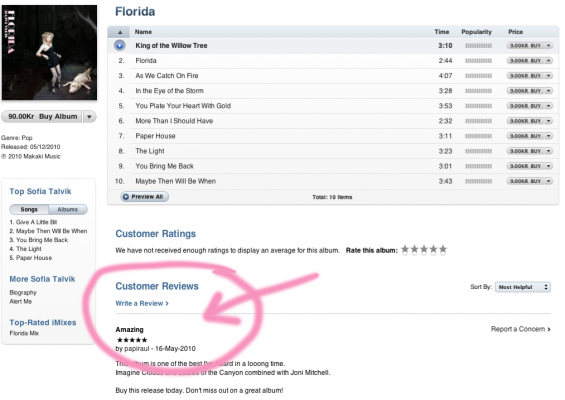 Review me on iTunes store