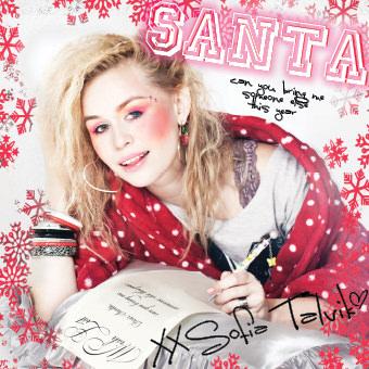 "Sofia Talvik annual Christmas single ""Santa (can you bring me someone else this year)"""