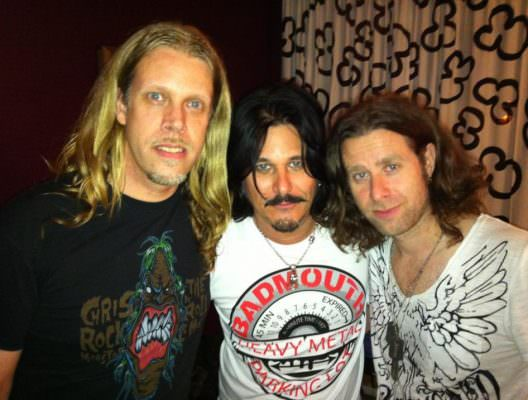 Chris LeMon and Vinnie Sharp from Badmouth with Gilby Clarke