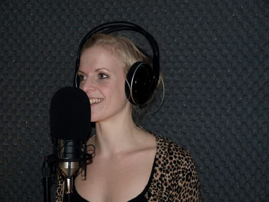 Jessica recording some magic!