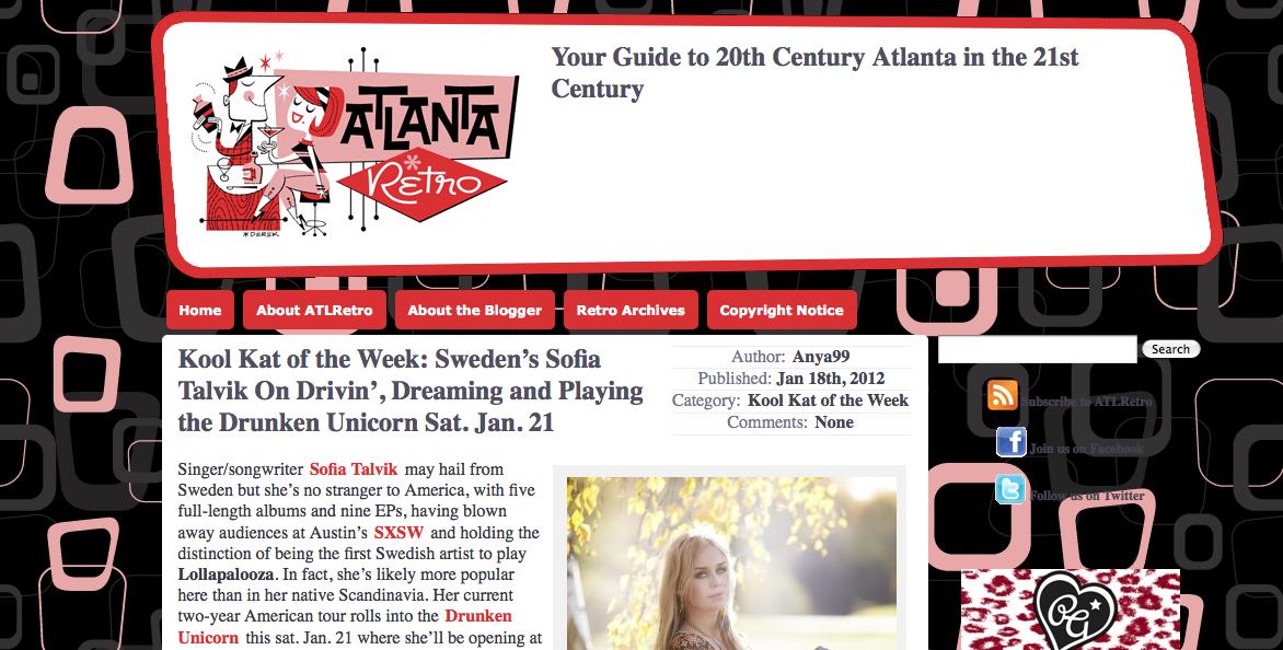 Atlanta Retro appoints Sofia Talvik Kool Kat of the week!