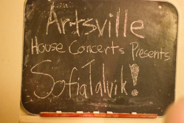 Sofia Talvik live at Artsville House Concerts
