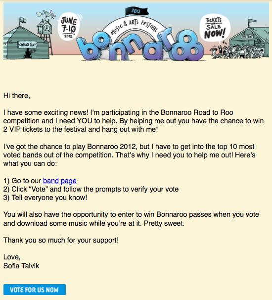 See me at Bonnaroo Festival!