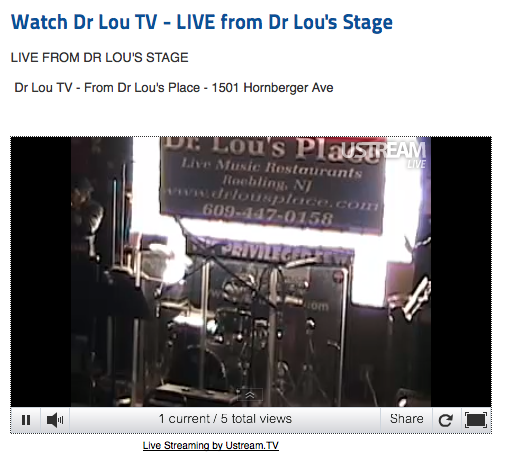 Watch my Dr Lou gig LIVE!
