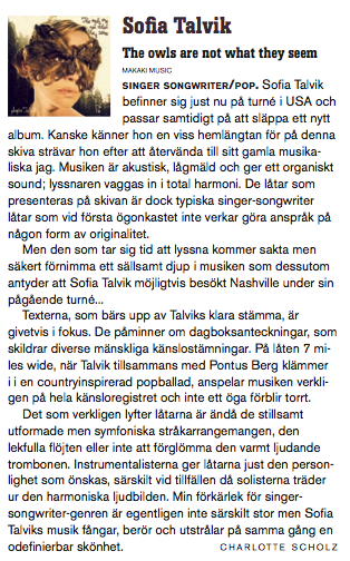 Review of Sofia's new album in Lira