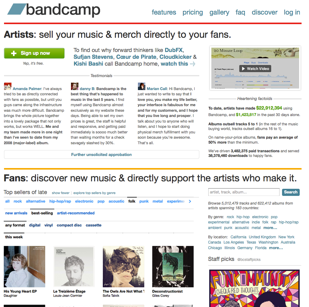 The Owls is #3 on Bandcamp!