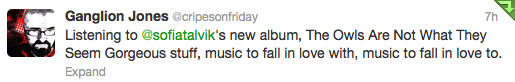 Tweets about my new album