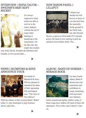 I'm crowding the front page along with Mumford & Sons and Band of Horses