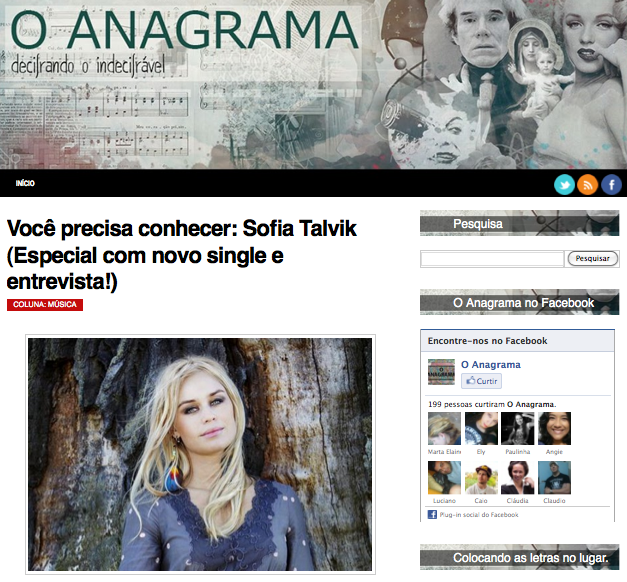 "New interview on Portuguise ""O Anagrama"""