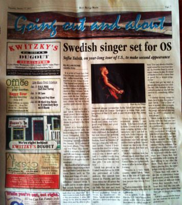 Interview in Ocean Springs Gazette