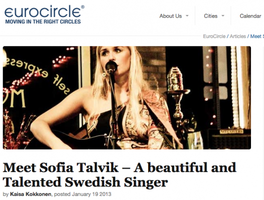 Interview with Sofia Talvik on EuroCircle