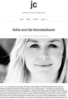 """Interview with Sofia talvik on """"das (#) und noch viel mehr   von jörgen camrath"""""""