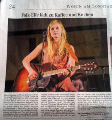 Sofia Talvik in Bremen news