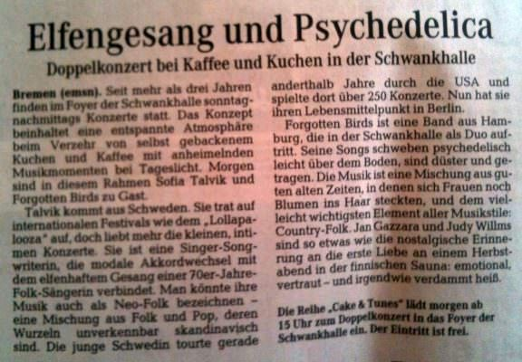 More Bremen news about the show