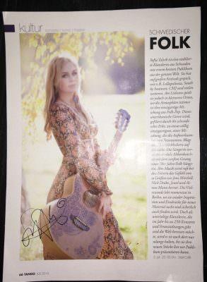 Sofia Talvik in Tango Magazine