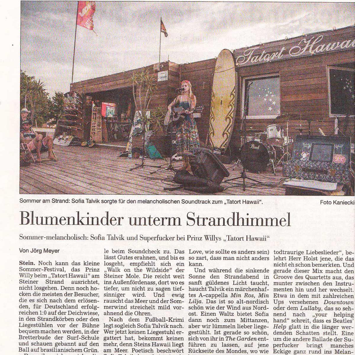 Sofia Talvik Kiel Press Review
