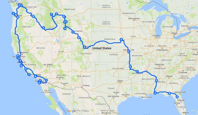 500 mile tour